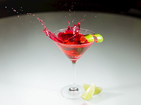 Cocktail With Grapes